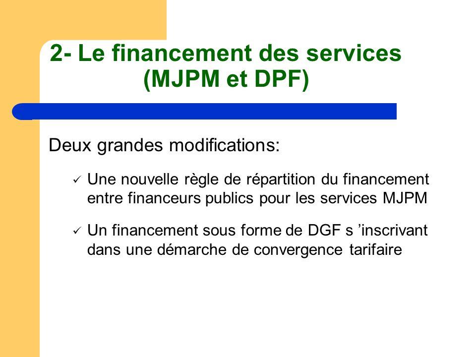 2- Le financement des services (MJPM et DPF)