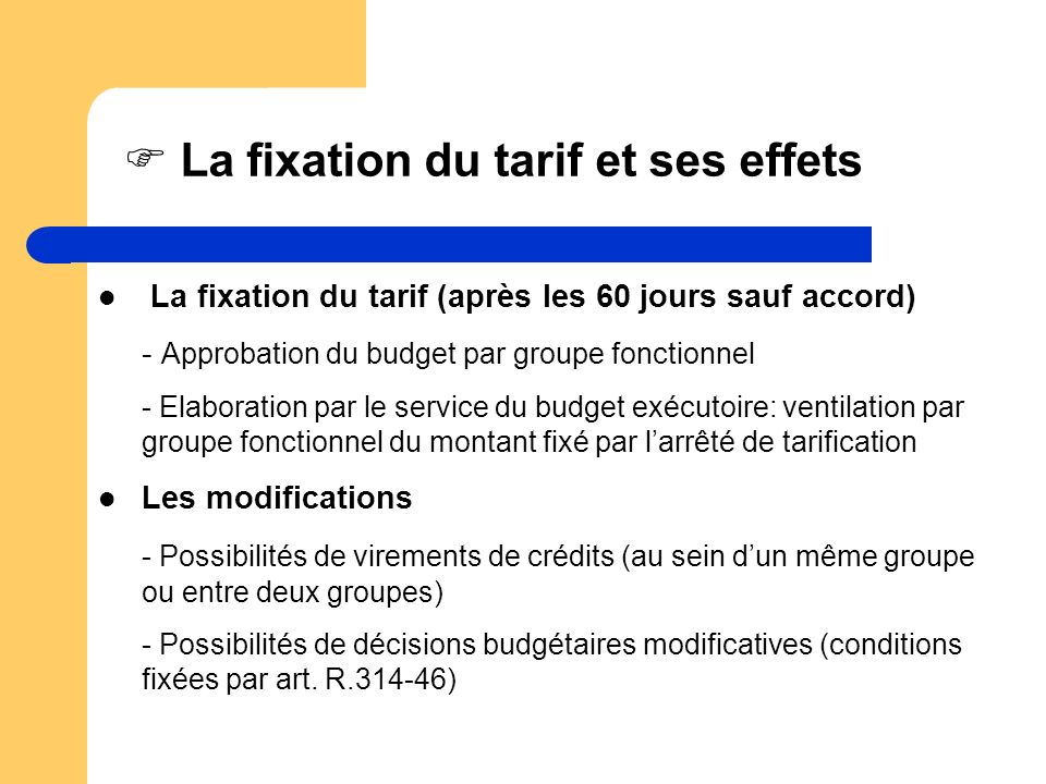 La fixation du tarif et ses effets
