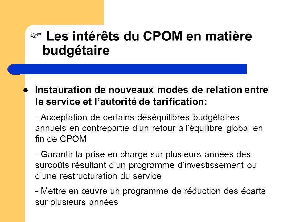 Les intérêts du CPOM en matière budgétaire