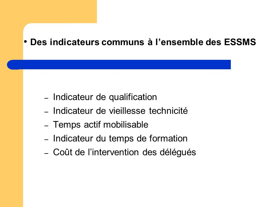 Des indicateurs communs à l'ensemble des ESSMS