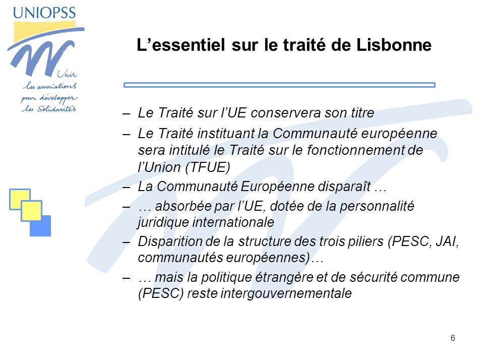 L'essentiel sur le traité de Lisbonne