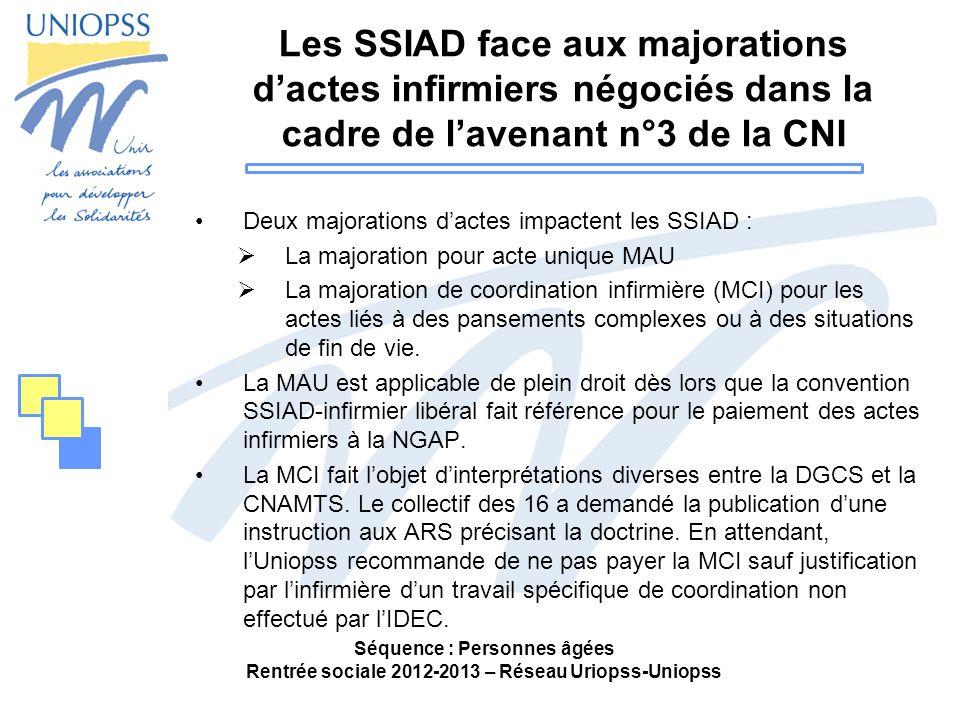 Les SSIAD face aux majorations d'actes infirmiers négociés dans la cadre de l'avenant n°3 de la CNI