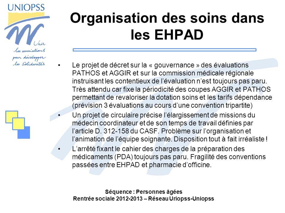Organisation des soins dans les EHPAD