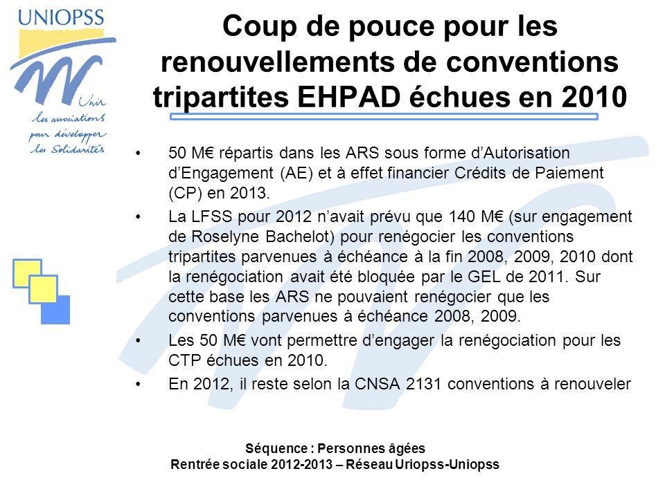 Coup de pouce pour les renouvellements de conventions tripartites EHPAD échues en 2010