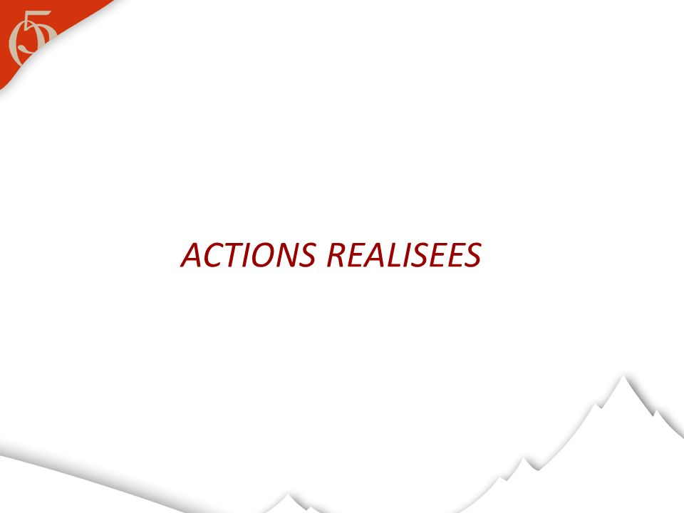 ACTIONS REALISEES