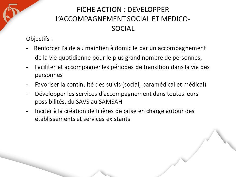 FICHE ACTION : DEVELOPPER L'ACCOMPAGNEMENT SOCIAL ET MEDICO-SOCIAL