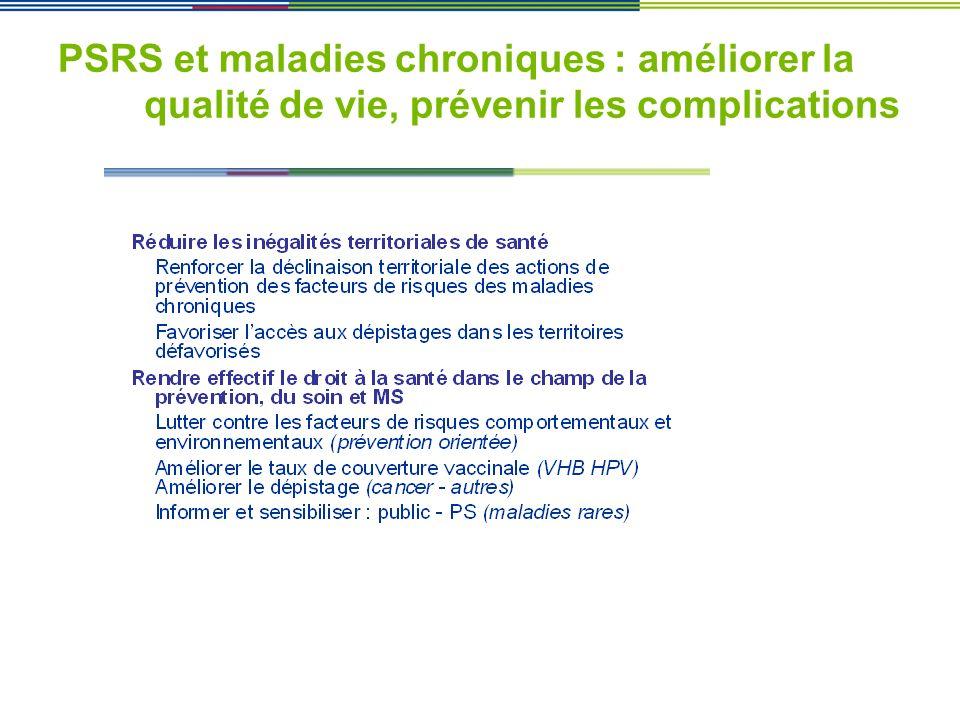 PSRS et maladies chroniques : améliorer la qualité de vie, prévenir les complications