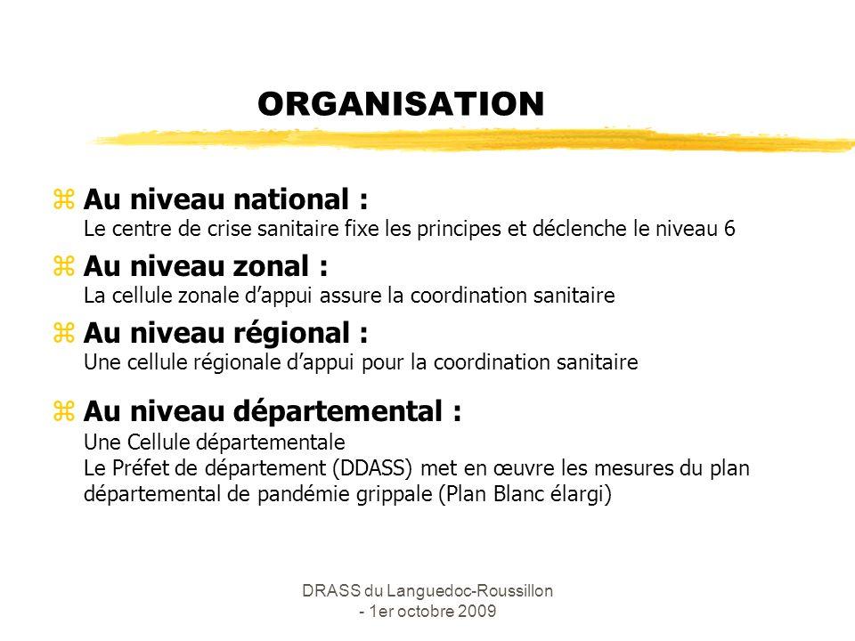 DRASS du Languedoc-Roussillon - 1er octobre 2009