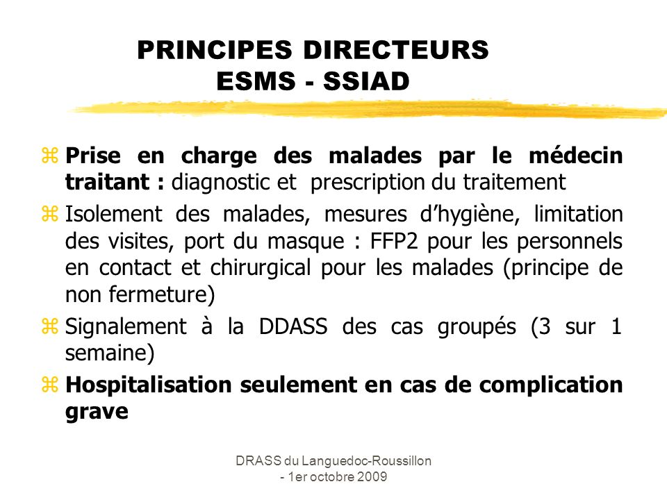 PRINCIPES DIRECTEURS ESMS - SSIAD