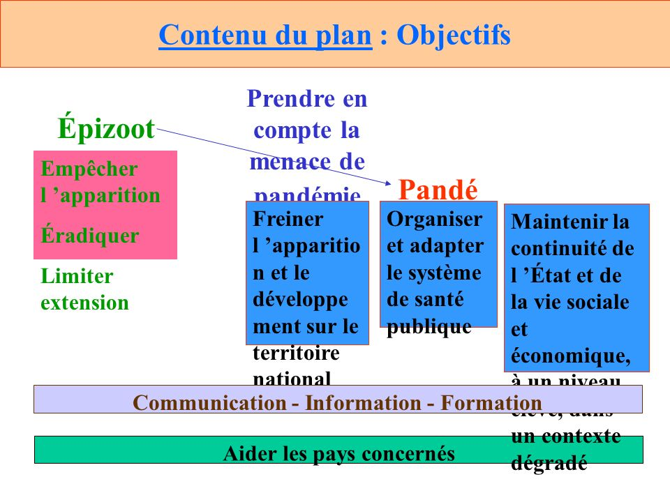 Contenu du plan : Objectifs