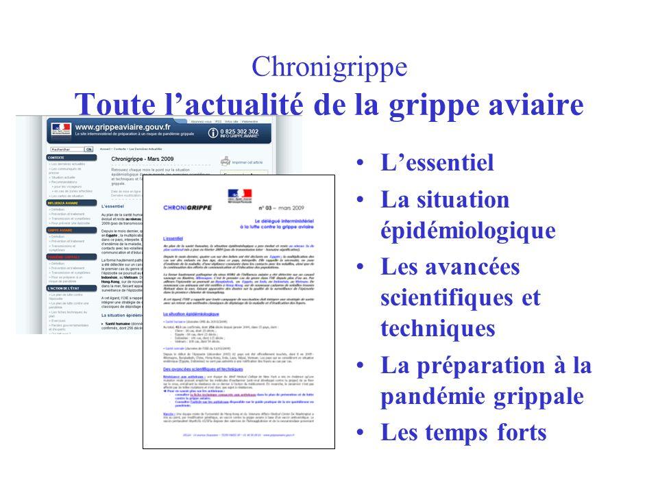 Chronigrippe Toute l'actualité de la grippe aviaire