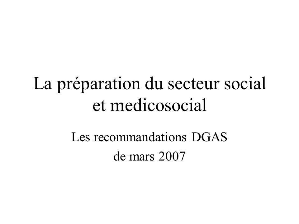 La préparation du secteur social et medicosocial