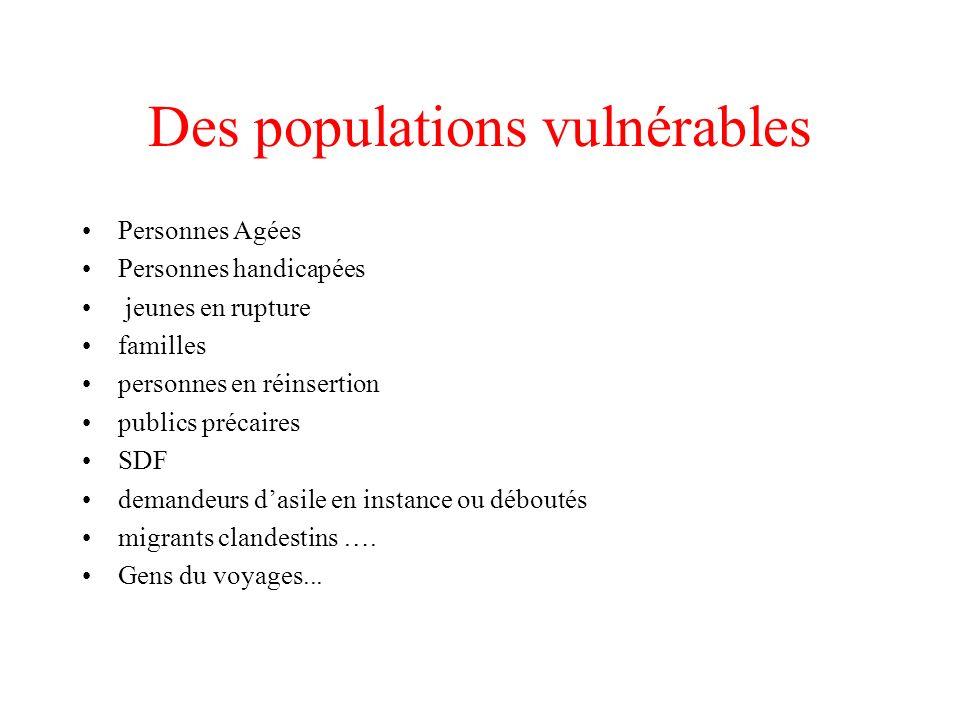 Des populations vulnérables