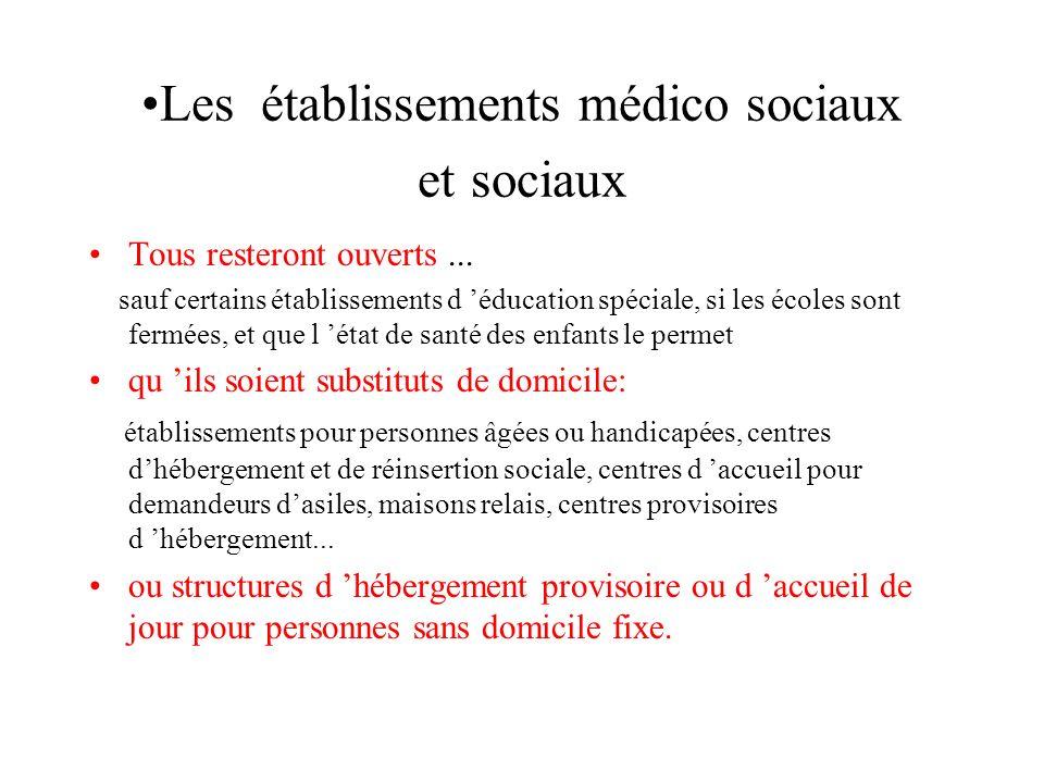 Les établissements médico sociaux et sociaux