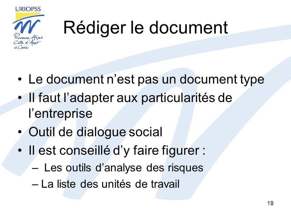 Rédiger le document Le document n'est pas un document type