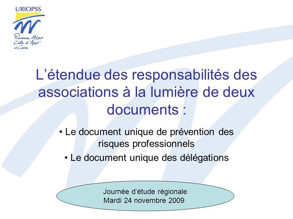 L'étendue des responsabilités des associations à la lumière de deux documents :