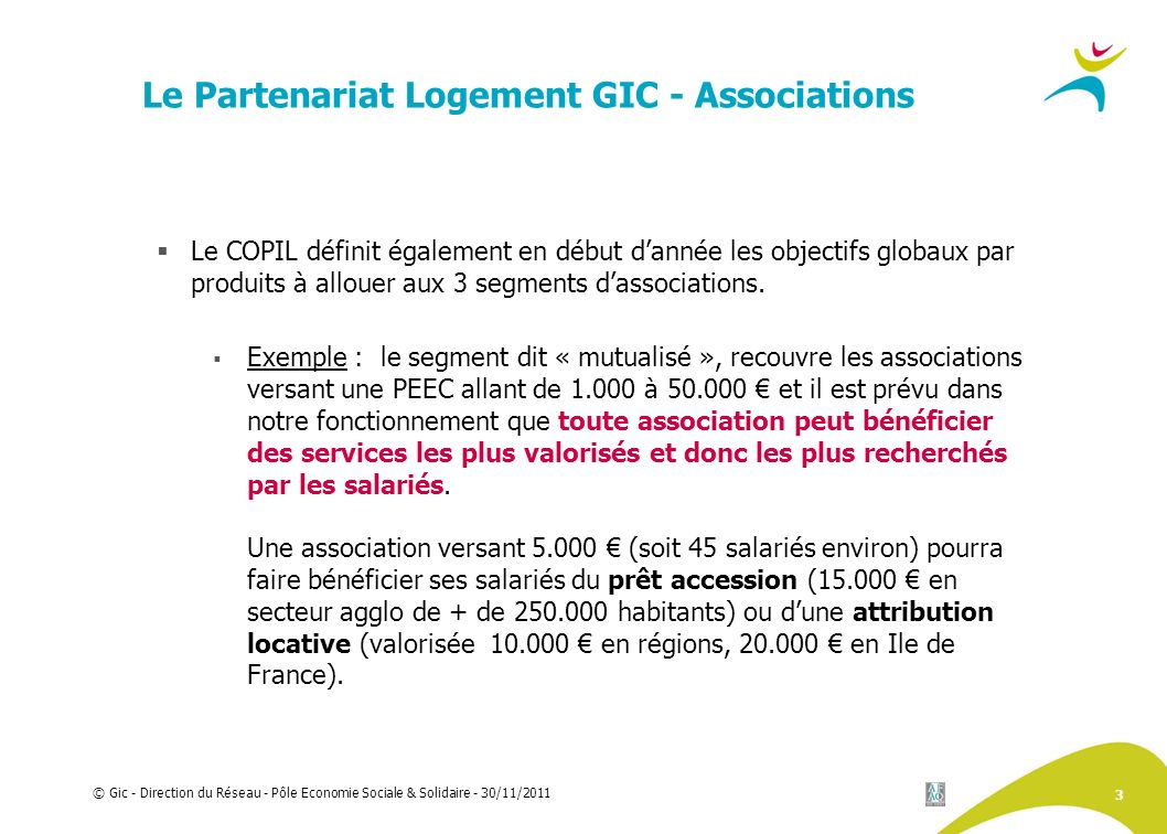 Le Partenariat Logement GIC - Associations