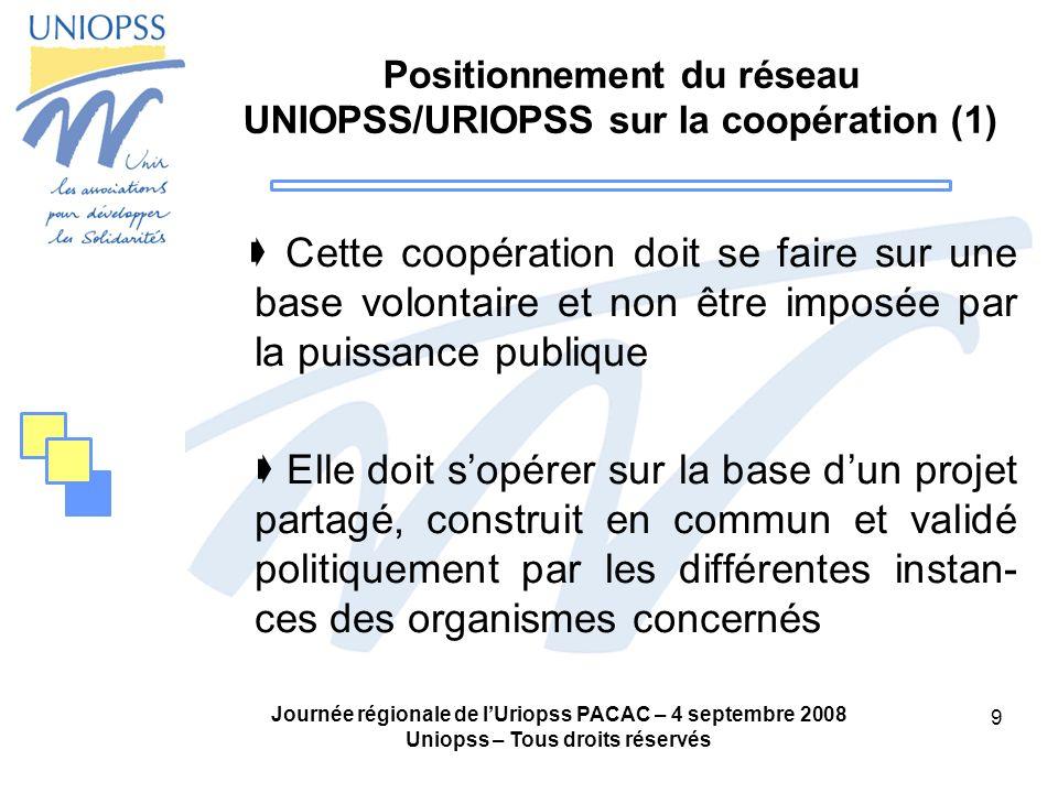 Positionnement du réseau UNIOPSS/URIOPSS sur la coopération (1)