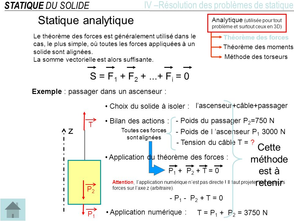 Statique analytique STATIQUE DU SOLIDE