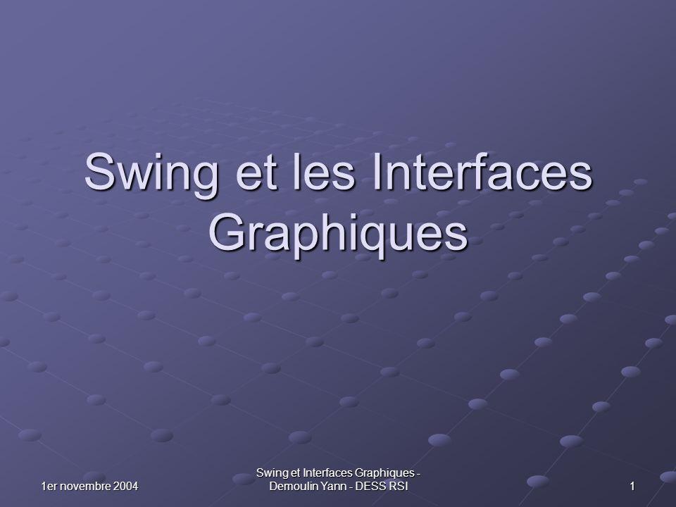 Swing et les Interfaces Graphiques