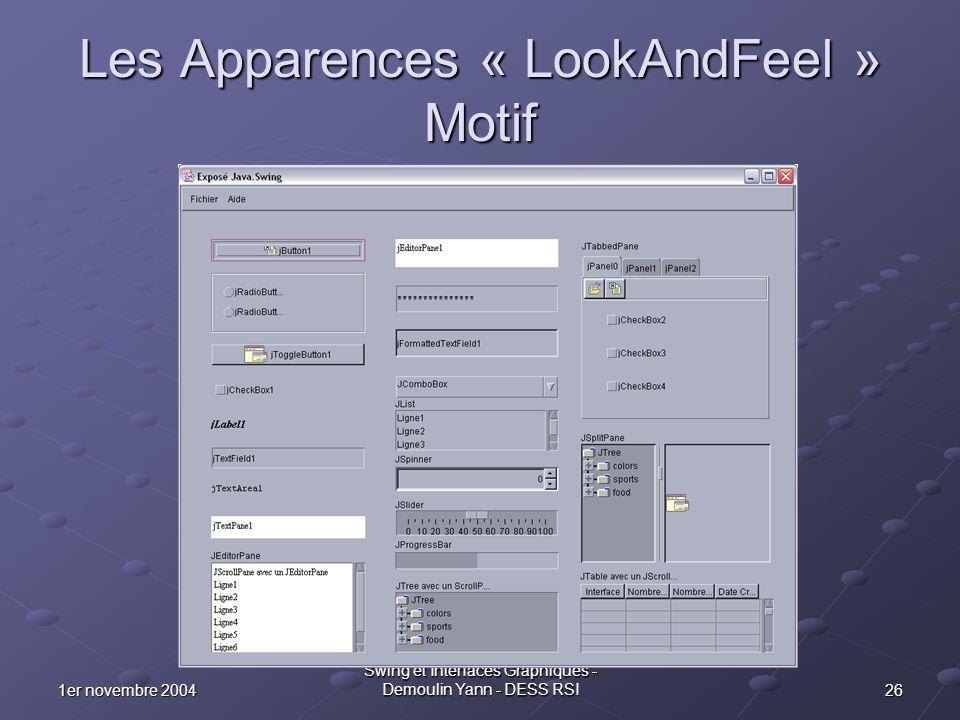Les Apparences « LookAndFeel » Motif