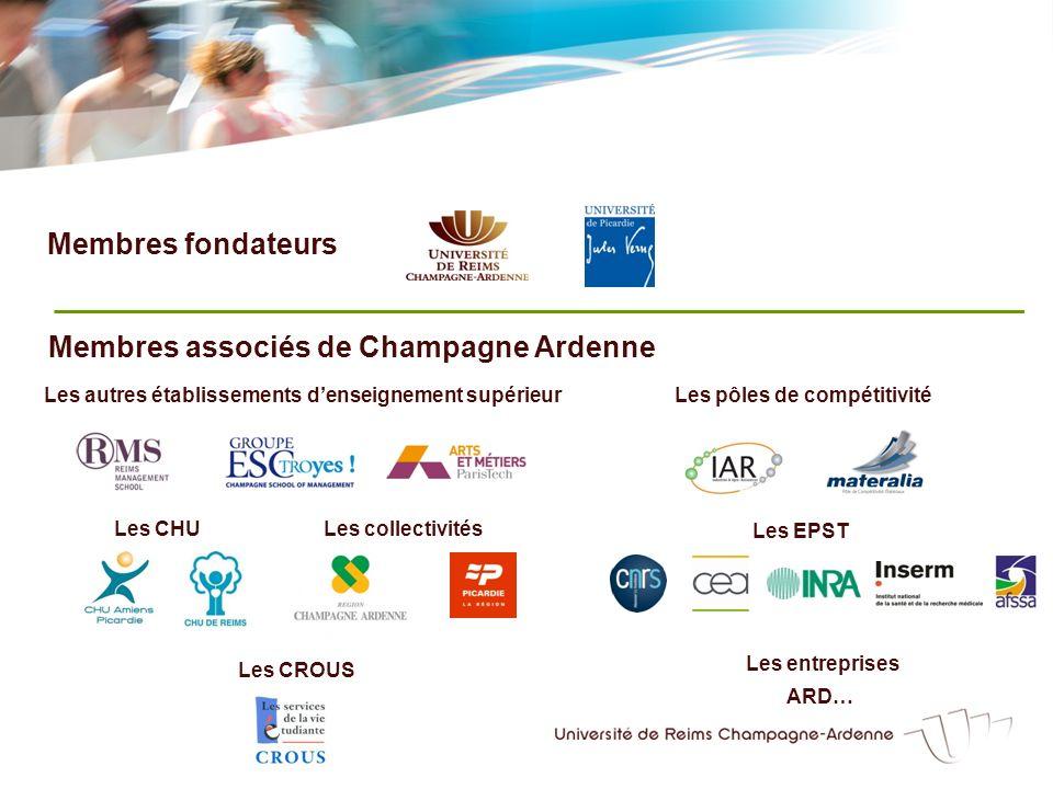 Membres associés de Champagne Ardenne