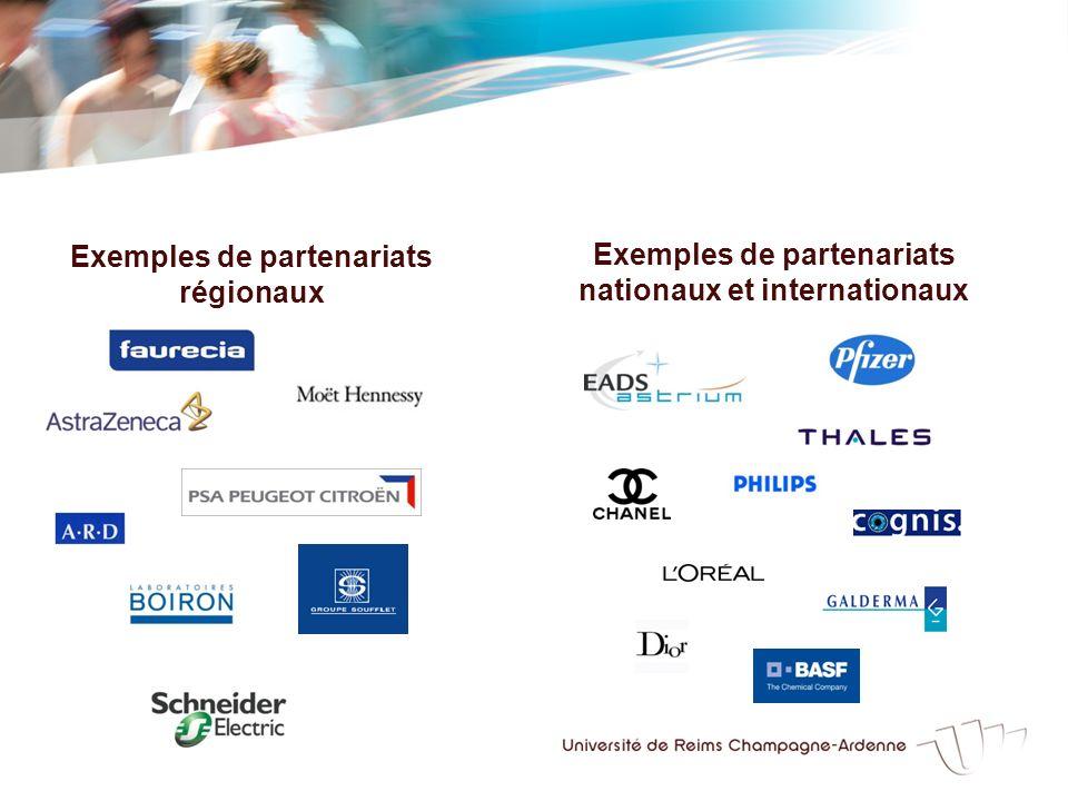 Exemples de partenariats régionaux