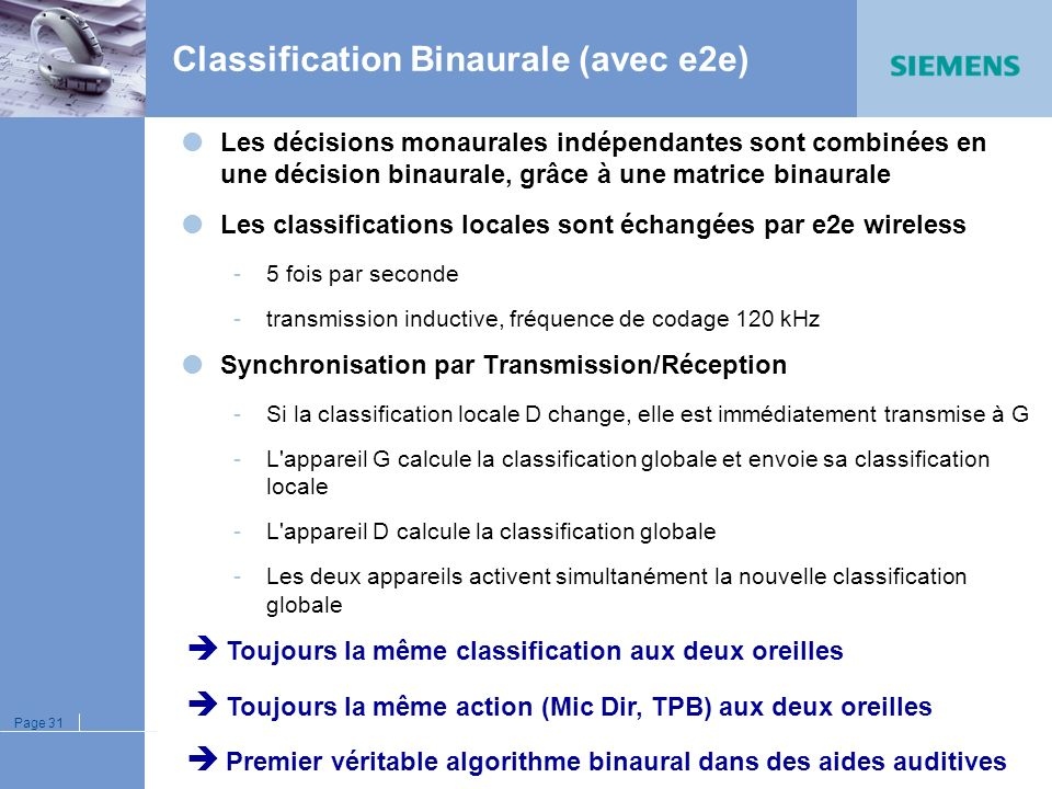 Classification Binaurale (avec e2e)