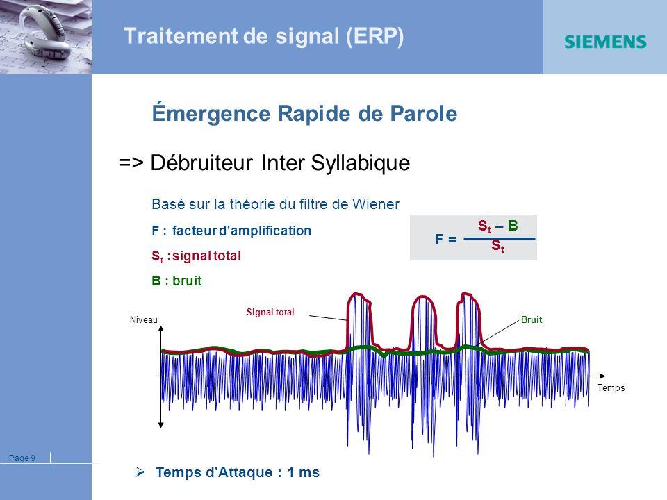 Traitement de signal (ERP)