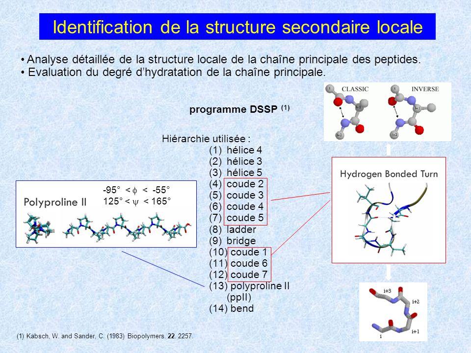 Identification de la structure secondaire locale