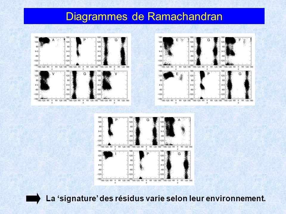 Diagrammes de Ramachandran
