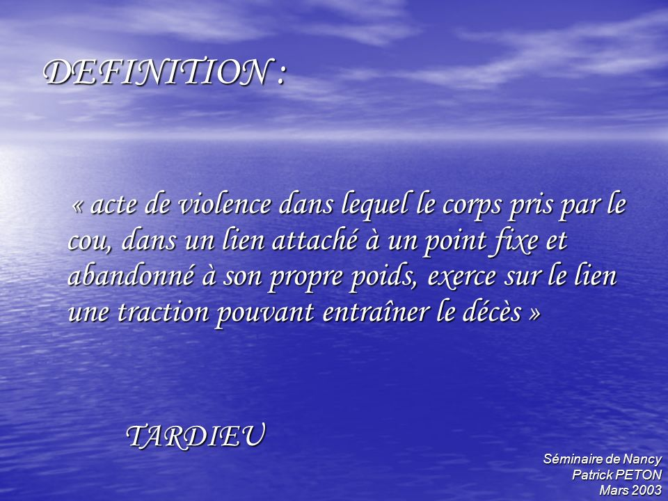 DEFINITION :