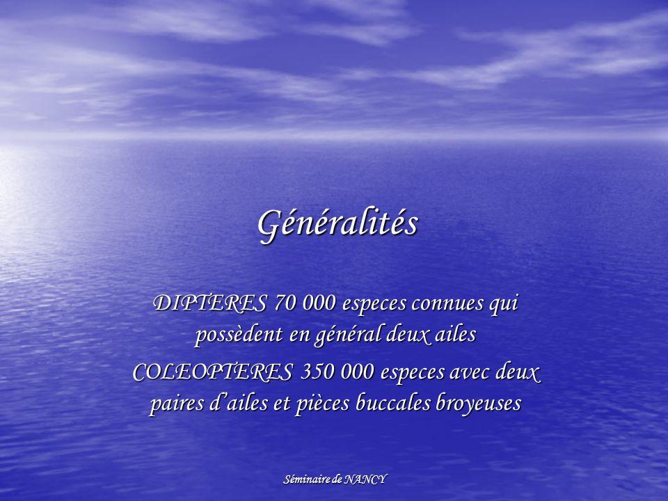DIPTERES 70 000 especes connues qui possèdent en général deux ailes