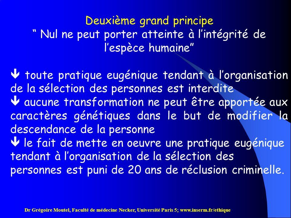 Deuxième grand principe