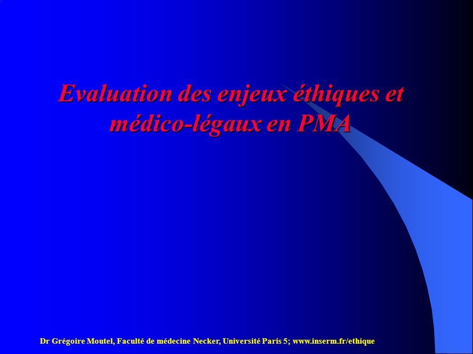 Evaluation des enjeux éthiques et médico-légaux en PMA