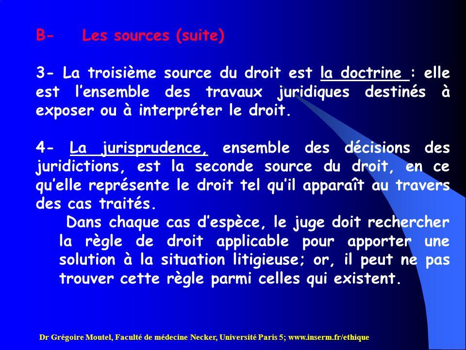 B- Les sources (suite)