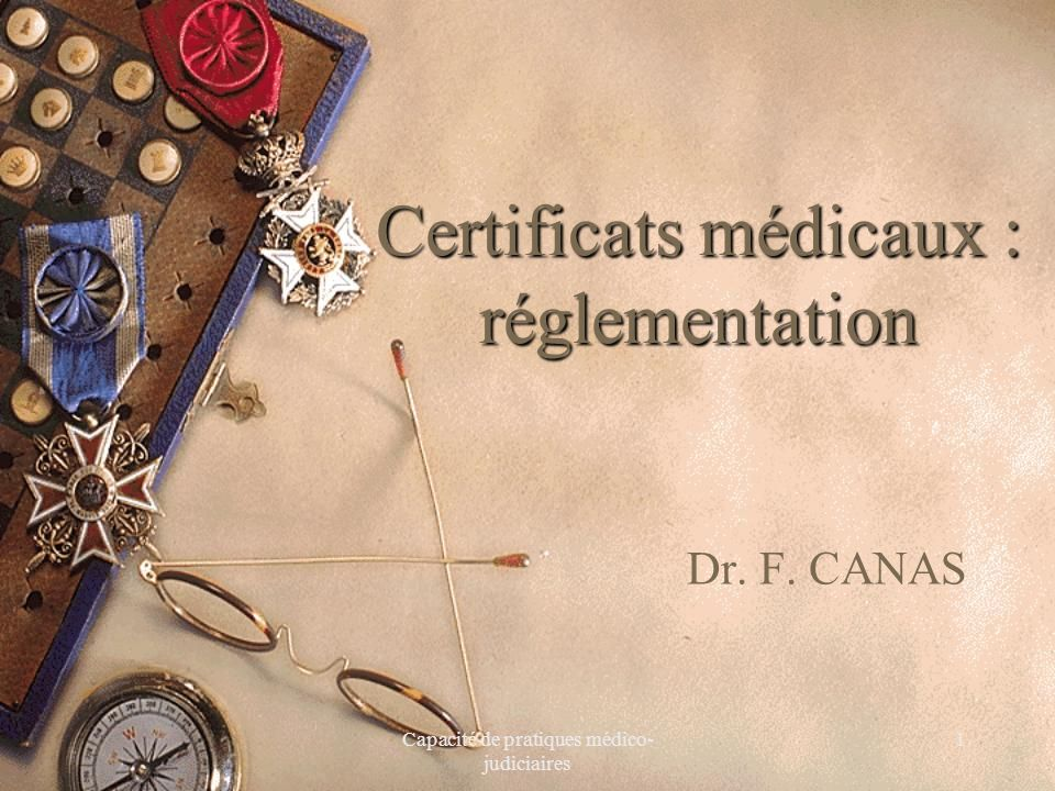 Certificats médicaux : réglementation