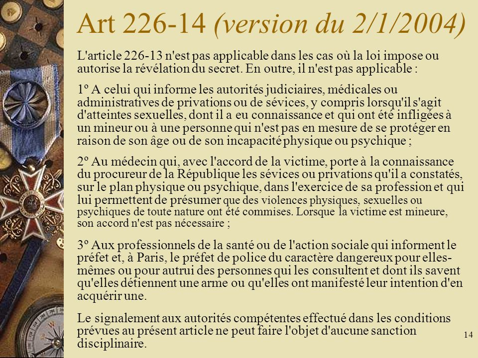 Art (version du 2/1/2004)