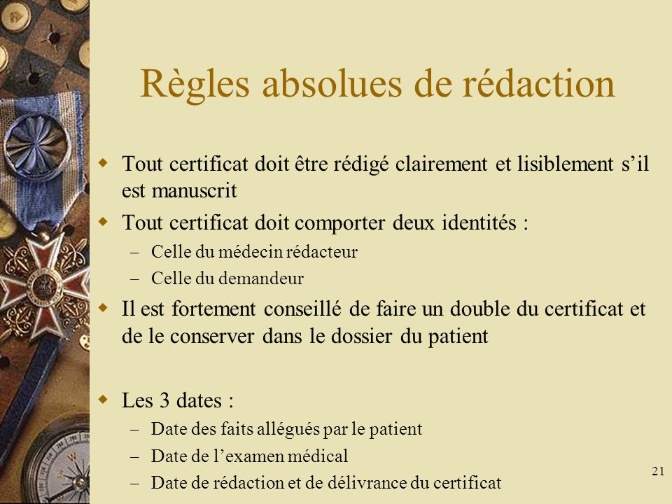 Règles absolues de rédaction