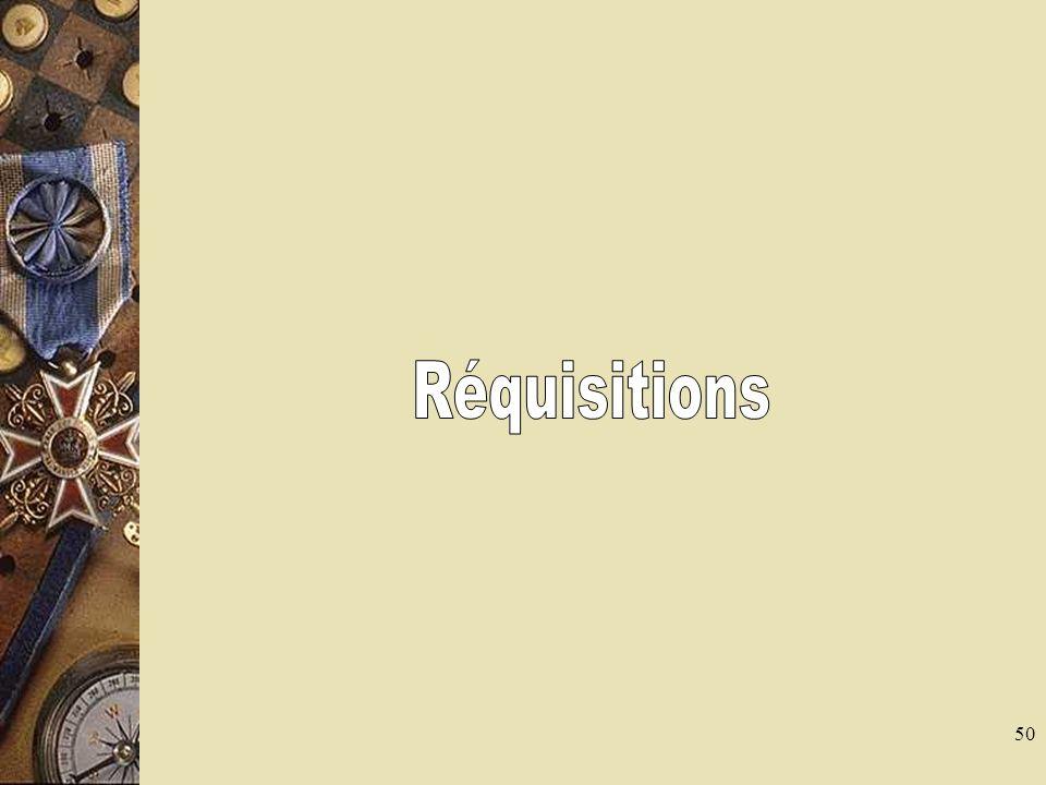 Réquisitions