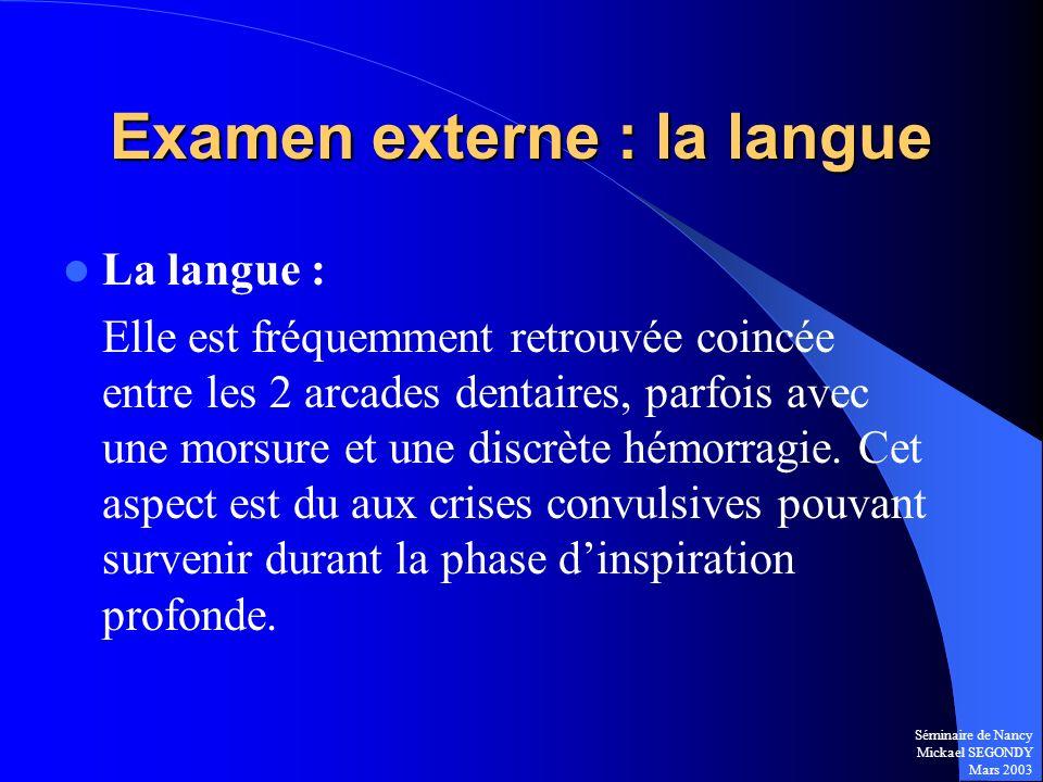 Examen externe : la langue