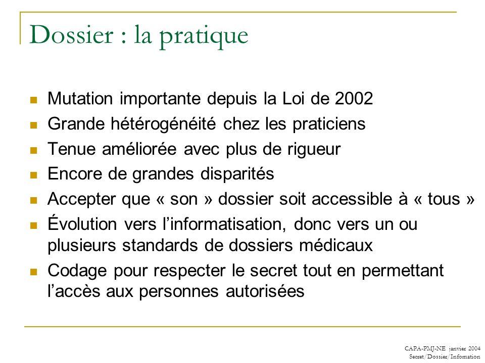 Dossier : la pratique Mutation importante depuis la Loi de 2002