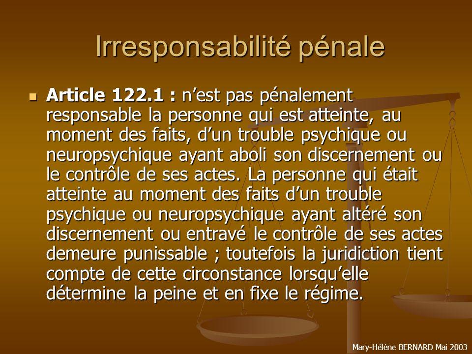 Irresponsabilité pénale