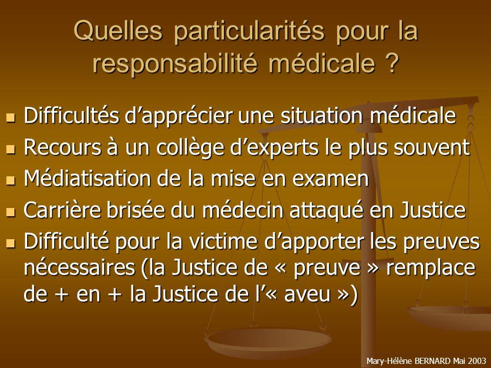 Quelles particularités pour la responsabilité médicale