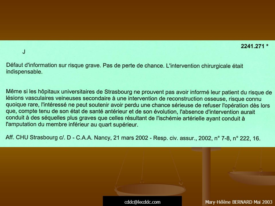 cddc@lecddc.com Mary-Hélène BERNARD Mai 2003