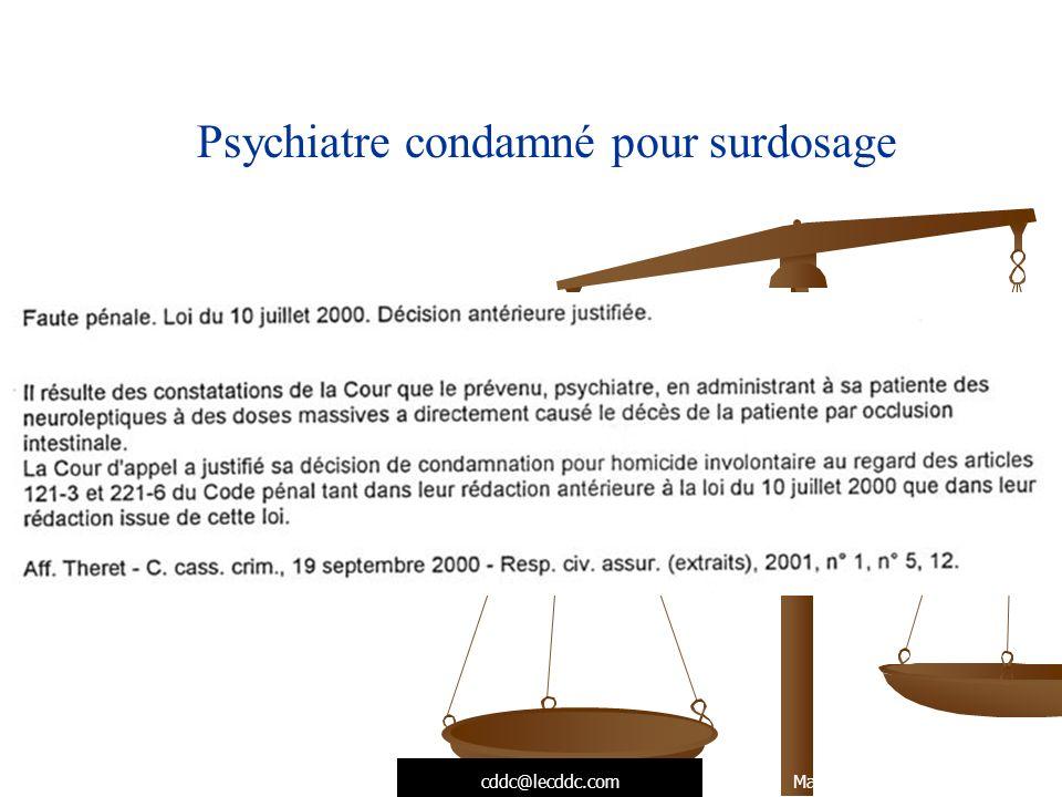 Psychiatre condamné pour surdosage