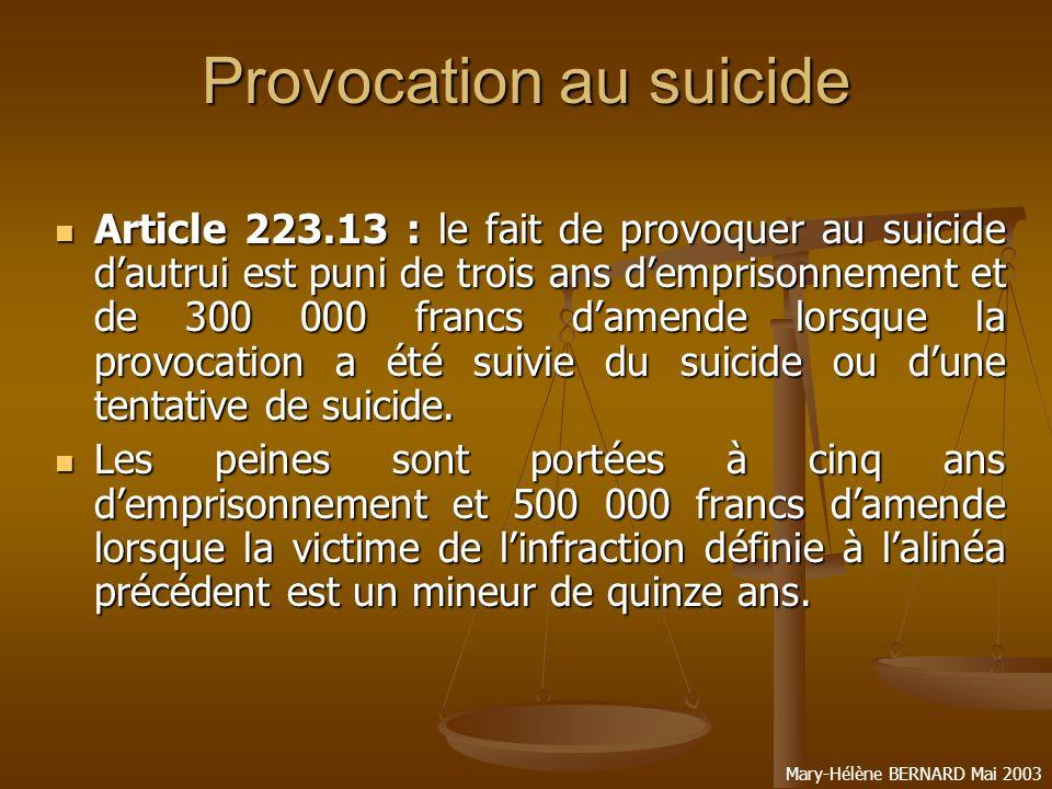 Provocation au suicide