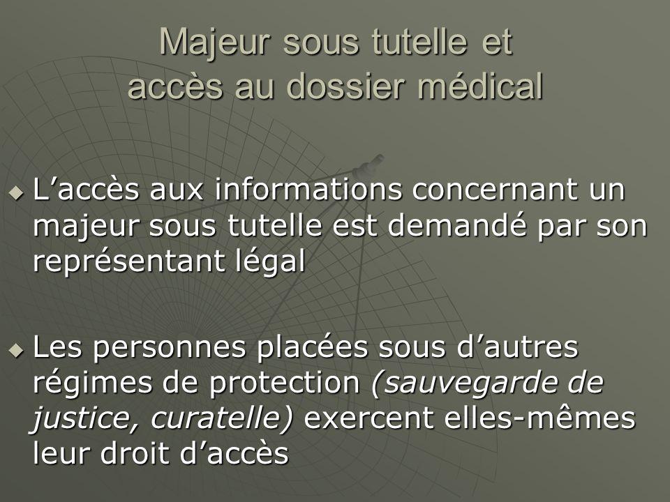 Majeur sous tutelle et accès au dossier médical