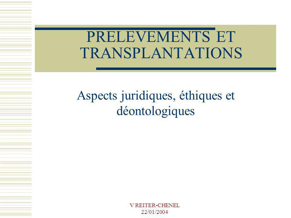 PRELEVEMENTS ET TRANSPLANTATIONS