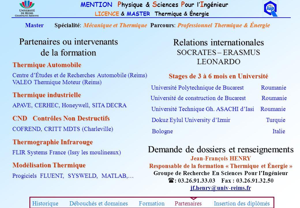 Stages de 3 à 6 mois en Université